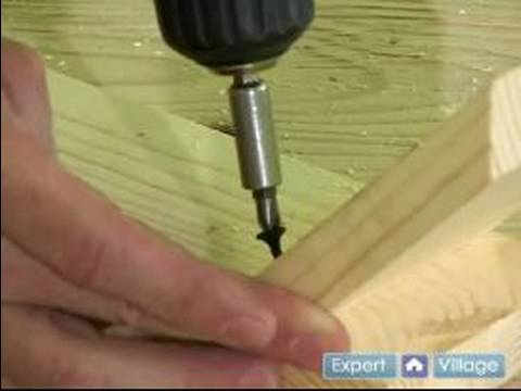 How to Build a Table With Removable Legs : How to Attach Table Leg Braces: Part 2 Video