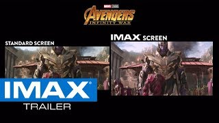 Avengers: Infinity War IMAX® Screen vs. Standard Screen