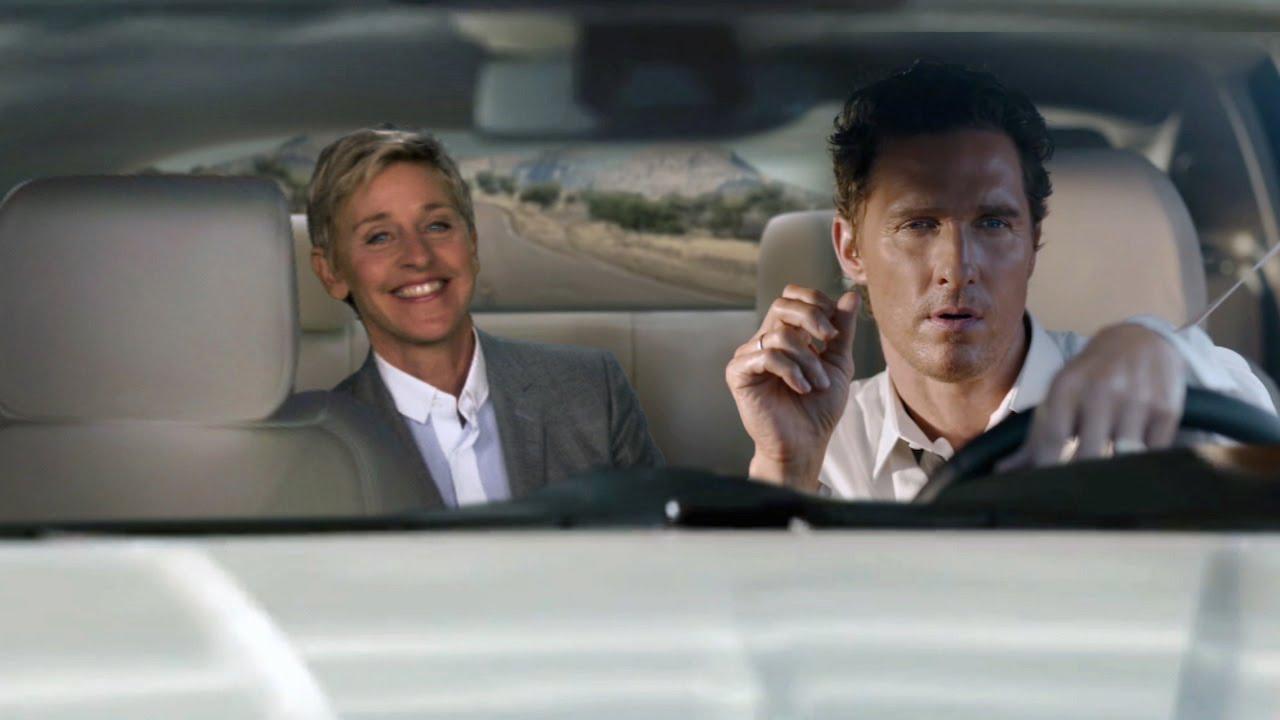 Ellen DeGeneres parody for Matthew McConaughey Lincoln Commercial