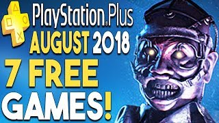 PlayStation Plus AUGUST 2018 FREE Games REVEALED! 7 GAMES!