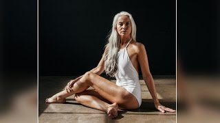 60 year woman poses for a swimsuit brand, Watch here