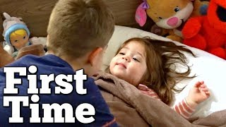 Kid Sleeps in a Real Bed for the First Time