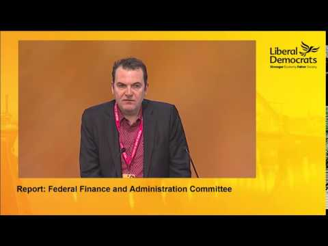 Report of the Federal Finance and Admin Committee to the Liberal Democrat Conference 2014