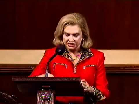 Rep. Carolyn Maloney speaks against proposed cuts to Planned Parenthood and women's health centers