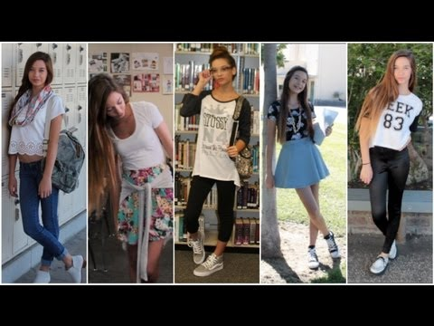 5 Back To School Outfit Ideas Giveaway ♡ Youtube