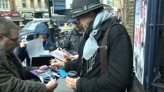 Jeff Fahey signing autographs outside the Garrick Theatre, London 05/12/13