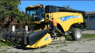 New Holland Cx8070 Mietitura Riso  Rice Harvest 20 09 2015