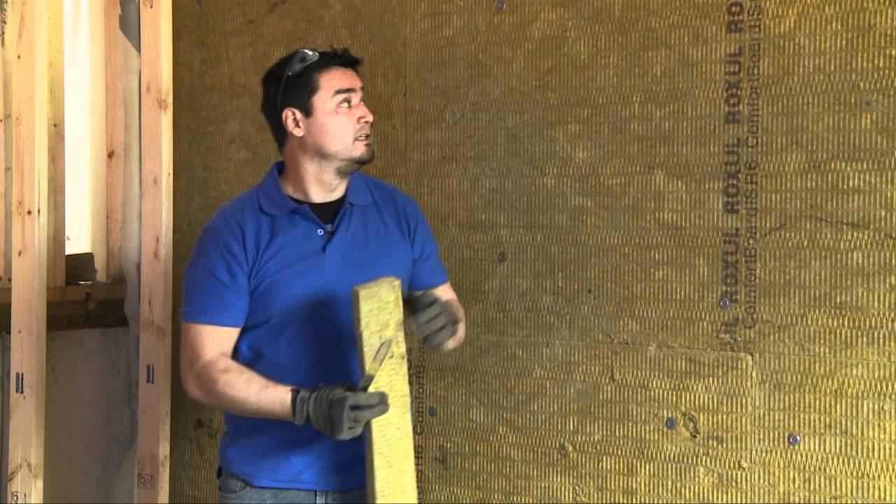 How to insulate your basement wall youtube for Roxul insulation r value