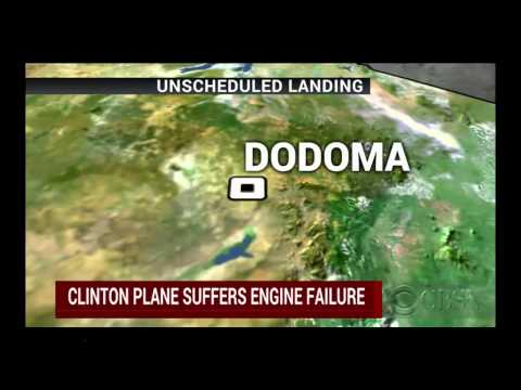 Bill Clinton's plane makes unscheduled landing in Tanzania