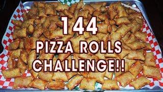 144 TOTINO'S PIZZA ROLLS CHALLENGE!!