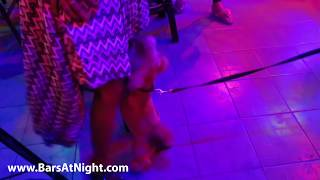 Bad dog dancing doggy style with hot sexy girl
