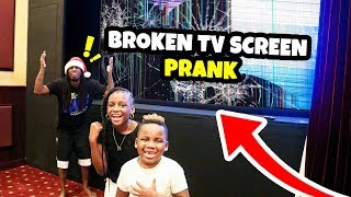 Broken TV Screen Prank on Mom and Dad