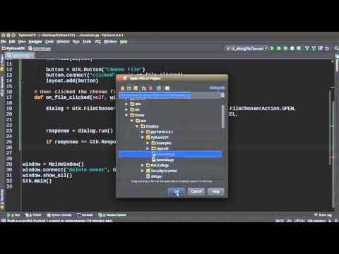 Python GUI Development with GTK+ 3 - Tutorial 16 - File Chooser Dialog