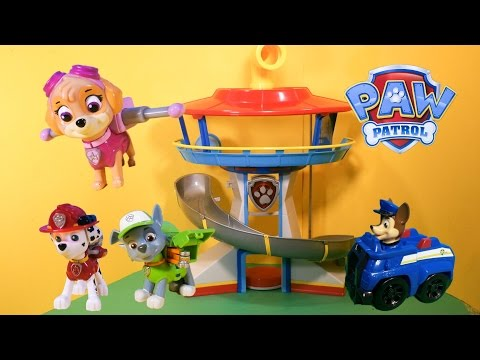 PAW PATROL Nickelodeon Paw Patrol Lookout A Nick Jr Paw Patrol Video Toy Review