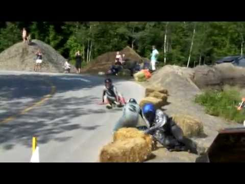 Downhill skateboard race in St Sauveur, QC on July 12th 2009