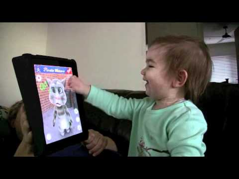 TALKING TOM GETS BASHED IPAD