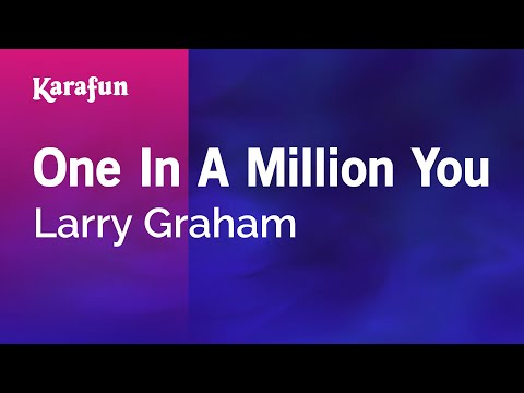 Karaoke One In A Million You - Larry Graham * video