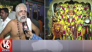 Devotees Throng Warangal Bhadrakali Temple | Devi Sharan Navaratri