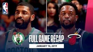 Full Game Recap: Celtics vs Heat   Vintage Wade On Display In Miami