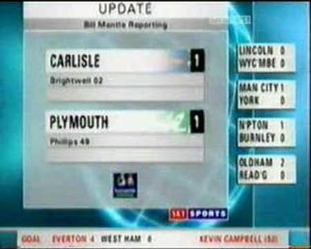Jimmy Glass carlisle goal