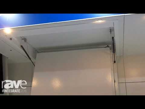 Integrate 2016: Ultralift Australia Highlights the Mercury Drop In-Ceiling TV Concealment System
