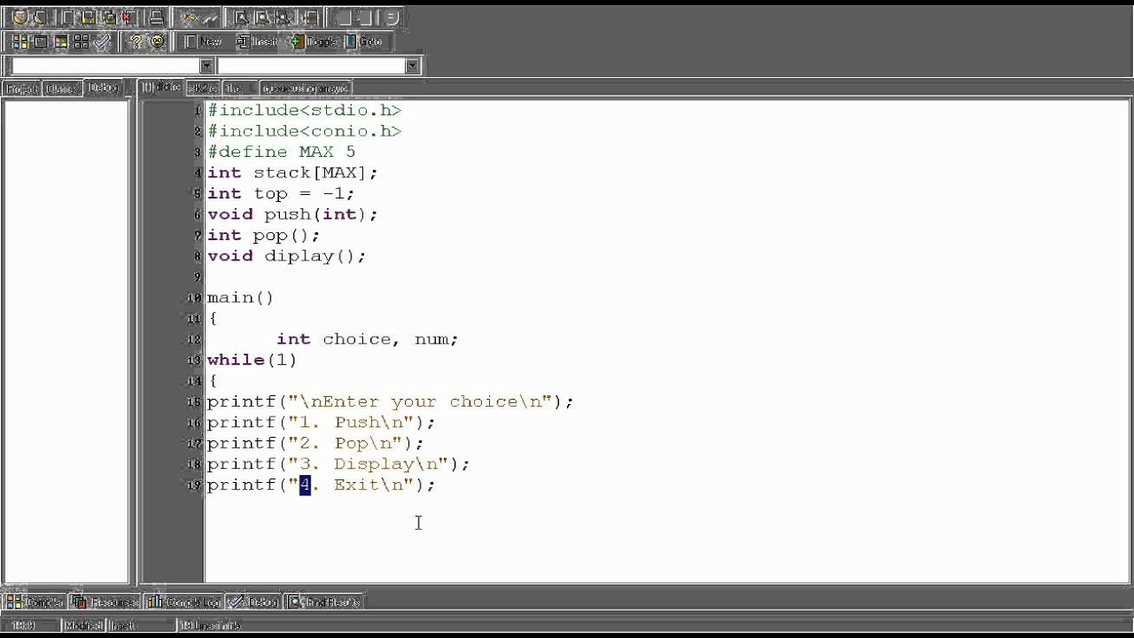 Implement stack using Linked List in java