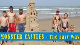 Sand Castle Shaping - How to Build an EPIC Sandcastle in 3 hours -