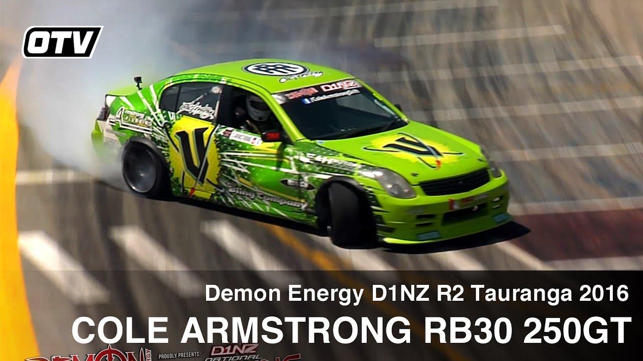 Cole Armstrong V Energy 250GT Skyline - D1NZ Drifting R2 Tauranga 2016