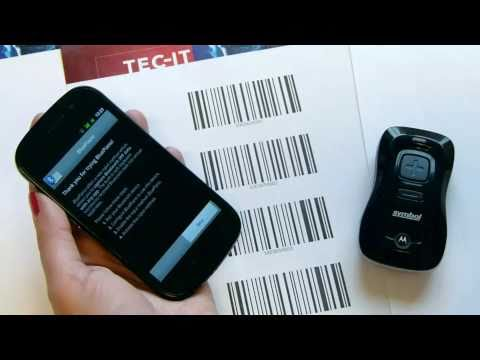 Bluetooth Barcode-Scanner CS3070 mit Android