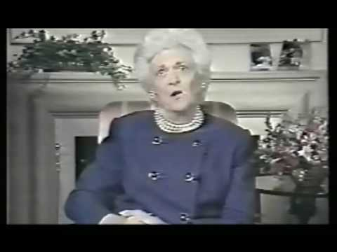 Mother of George Bush; Barbara Bush - hypnosis mind control