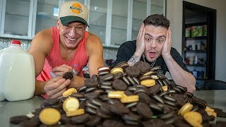 Attempting to EAT 200 OREOS w/ SteveWillDoIt!!