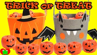 Halloween Candies, Shopkins, and Fashem Surprises in Buckets