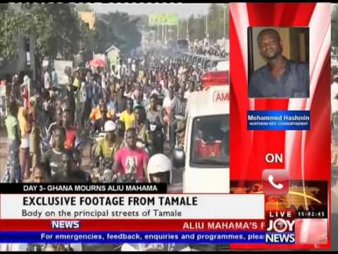 Aliu Mahama's Remains Paraded through the Principal Streets of Tamale