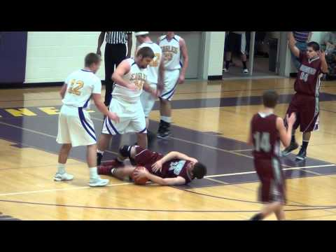 Flagrant foul no-calls Highland @ Connell 12/22/11