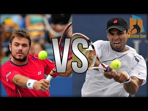Stanislas Wawrinka Vs Alejandro Falla Australian Open 2014 Highlights