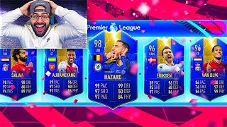 OMG INSANE HIGHEST RATED EPL TOTS DRAFT CHALLENGE!! FIFA 19 Ultimate Team Draft