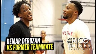 """He Gonna' LEARN!"" DeMar DeRozan & Norman Powell Go At It at Rico Hines Runs! Former Teammates!"