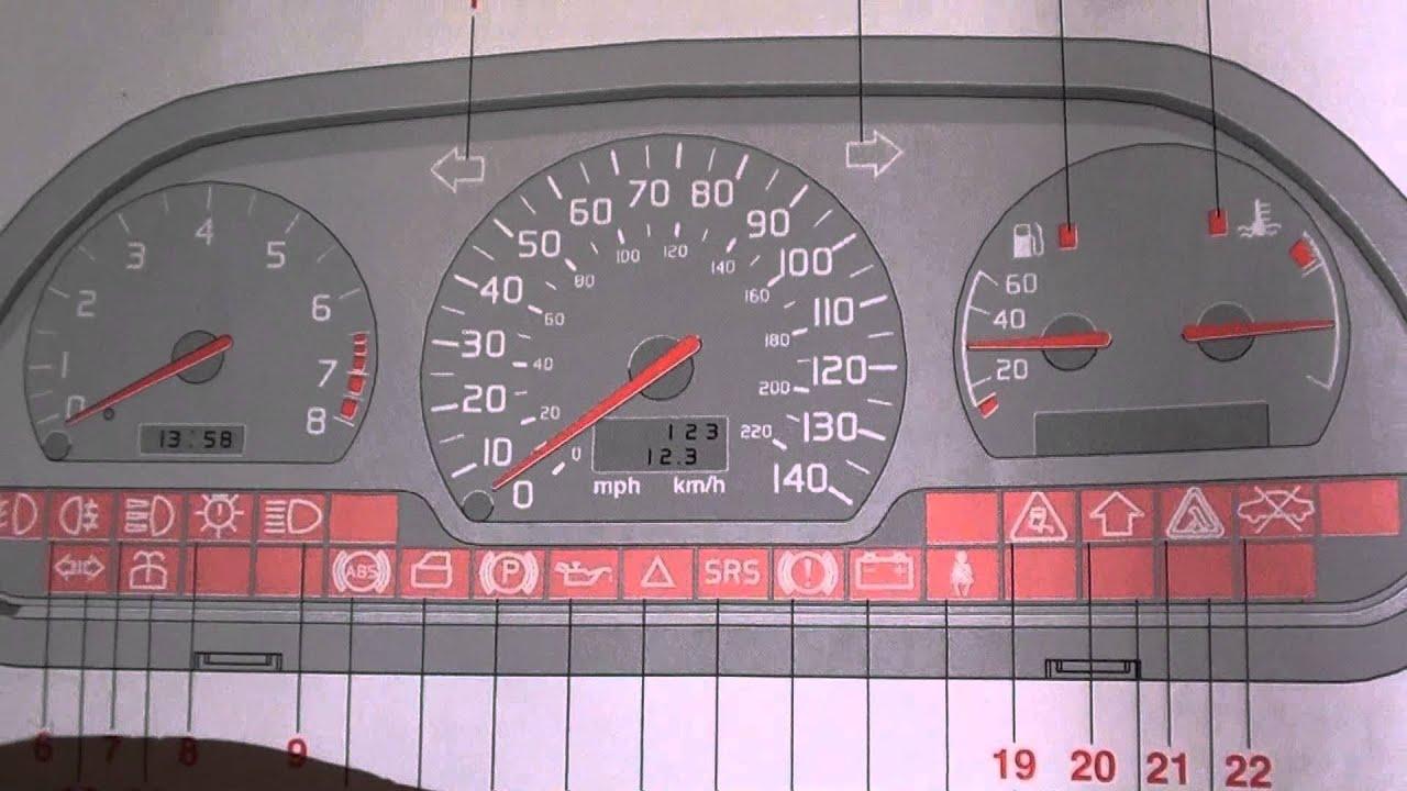 Volvo S40 & V40 Airbag Warning Light - Turn It Off - YouTube