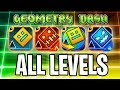 Lagu Every Geometry dash level! with coins! (GD, Meltdown, Subzero, World, 37 levels)