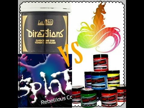 Hair Color Reviews | VS |Directions, Arctic Fox, Splat, Manic Panic
