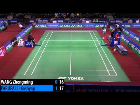 R32 - MS - Kashyap PARUPALLI vs WANG Zhengming - 2014 India Badminton Open (F 3-1)
