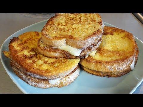 Гренки. Гренки с яйцами и  сыром. Очень вкусно и быстро!!!