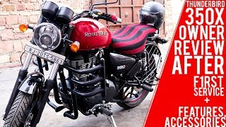 Royal Enfield ThunderBird 350x ABS Owner's Review After First Service [HINDI]