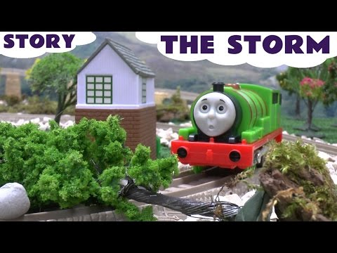 Thomas And Friends Play Doh Story The Storm Accident Thomas Tank Playdough Diggin Rigs Sam video