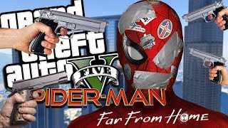 SPIDER-MAN FAR FROM HOME GETS KIDNAPPED MOD (GTA 5 PC Mods Gameplay)