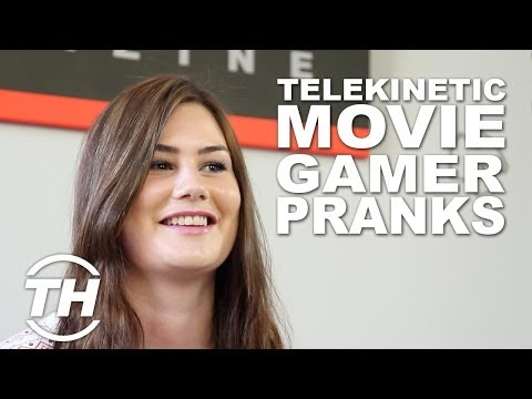 Telekinetic Movie Promo Pranks - This Woman Used Her  Telekinetic Powers  in a Coffee Shop Prank