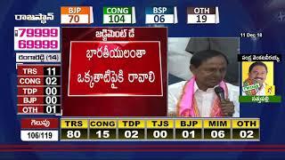 గెలిచామని గర్వంతో పొంగిపోవద్దు..| #KCR Live Speech At TRS Bhavan | #TSElectionResults2018