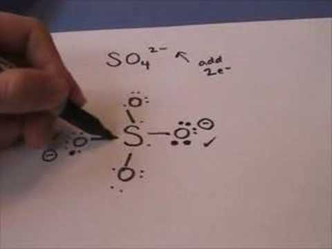 Lewis Structure sulfate  Na2so4 Structure