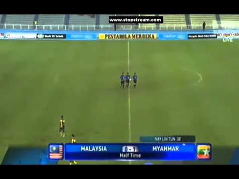 merdekar cup 2013 Myanmar U 23 - 1 : Malaysia U23 - 2 Full Times)