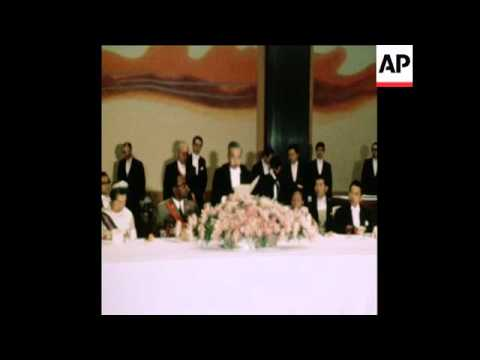 SYND 9 4 71 PRESIDENT OF CONGO VISITS EMPEROR HIROHITO